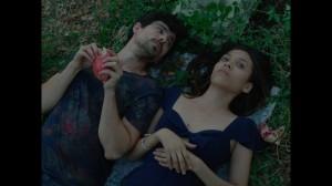 Hermes (JORGE LUIS MORENO) and Moira (VIRGINIA SANCHEZ NAVARRO) discuss death